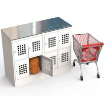 Металлический шкаф для сумок и личных вещей, в Краснодаре