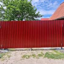 Заборы из профнастила под ключ, в Тюмени