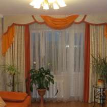 Шторы портьеры с ламбрекеном для гостиной, в Калининграде