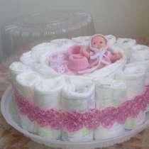 Услуги торты из памперса для выписки, в г.Костанай