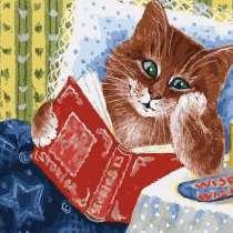 Набор для раскрашивания: Котик с книжкой Размер: 30х40 см, в Челябинске