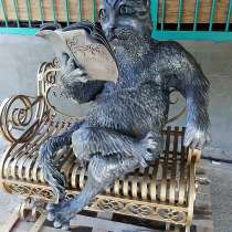 Кот-ученый-скульптура, в Краснодаре