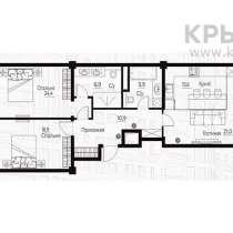 Продается 3комнатная квартира в ЖК Nomad 1, 101 м2, в г.Алматы