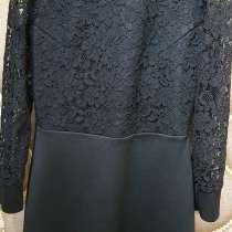 Платье с кружевом, черное, в г.Фергана