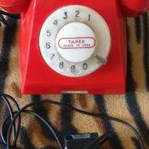 Телефон красный дисковый, сделано в СССР, б/у, в г.Брест