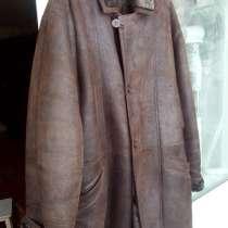 Дубленка мужская,58 размер, состояние отличное, Шапка новая, в Чебоксарах
