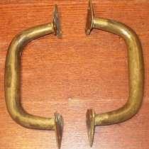 Старинные скобы дверные бронзовые дутые, в Владимире