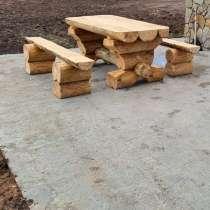 Стол из бревна, в Ставрополе