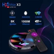 Смарт тв андроид приставка H96 Max X3 Amlogic S905X3 8k Andr, в Владивостоке