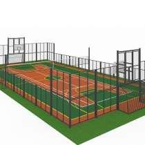 Детский городок, спорт площадка,урны,скамейки,трибуна фонари, в Ижевске