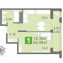 Продам 1 комнатную квартиру по ул. Рахманинова!, в Пензе