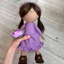Интерьерная текстильная кукла ручной работы, в Томске