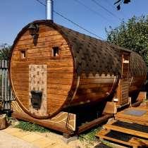 Баня бочка из кедра под ключ 3,4,5,6 метров, в Краснодаре
