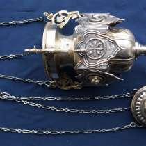 Старинная серебряная лампада огромного размера. Москва, 1854, в Санкт-Петербурге