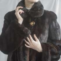 Шуба норковая коричневая Saga Mink, размер 48-50, в Красноярске