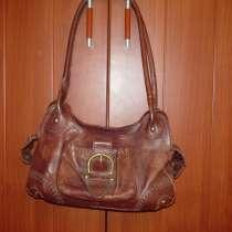 Брендовая женская сумка PIKOLINOS коричневая кожа хендмейд, в Видном