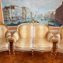 Диван кресла журнальный столик из золота Turri Otello, в Москве