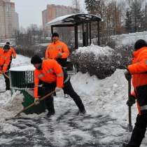 Расчистка, уборка снега, в Обнинске