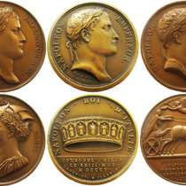 Лот-2. Настольные медали памяти Наполеона, в Москве