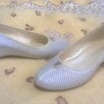 Кожаные бежевые туфли, в Краснодаре