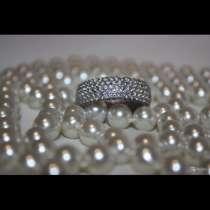Кольцо Серебро новое 19 камни циркон белые полностью украшен, в Москве