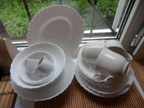 Замечательные посуда из белого фарфора+ стеклянная в Санкт-Петербурге фото 12