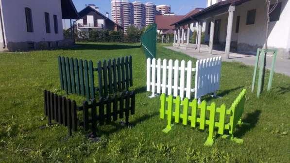 Забор декоративный, пластиковый, секционный
