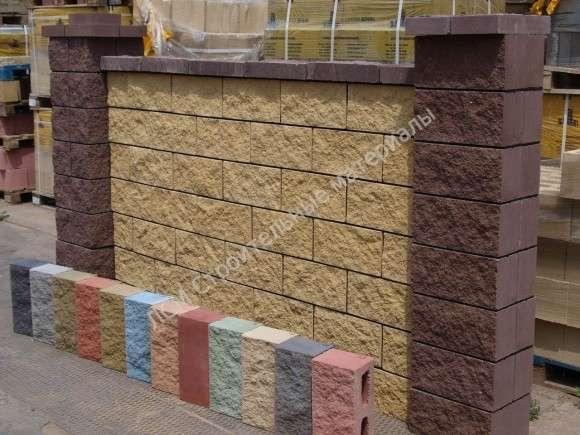 Заборные блоки под Рваный камень