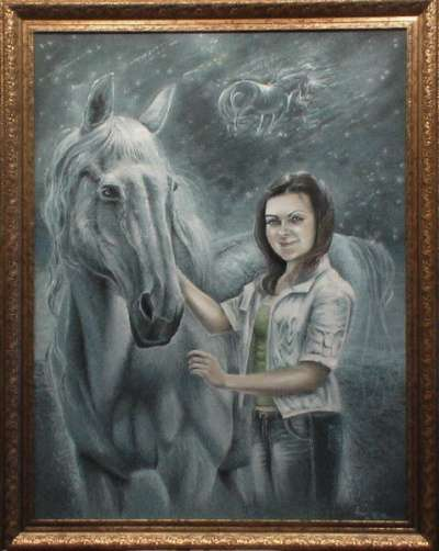 Портрет по фото. Роспись стен в Омске фото 7
