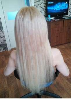 Натуральные мелированные пряди волос на заколках