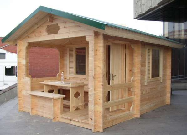 Дачные домики из мини-бруса