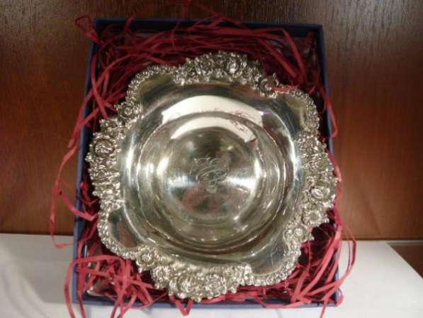 Серебряная вазочка, антикварная