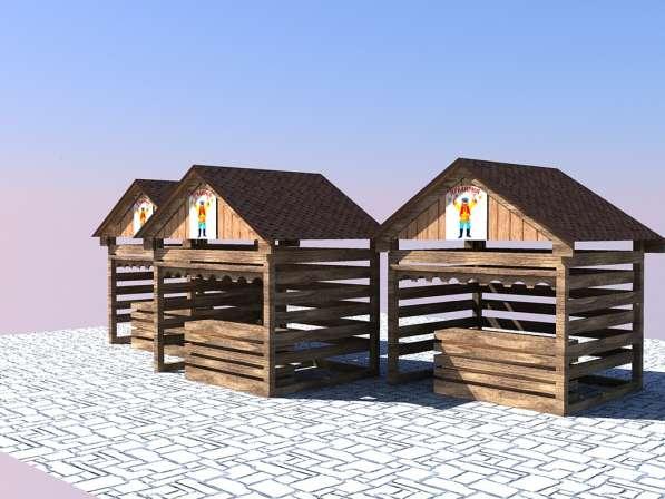 Изготавливаем деревянные ярмарочные домики в Ростове-на-Дону фото 6