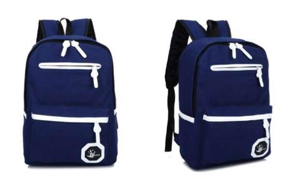 Синий красный черный рюкзак клякса