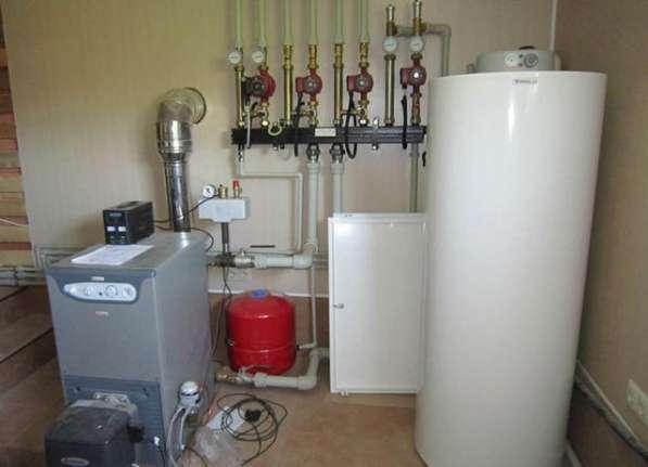Монтаж котла отопления, отопительной системы