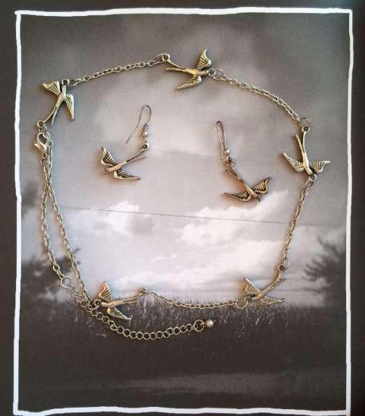 Ожерелье и серьги Птички