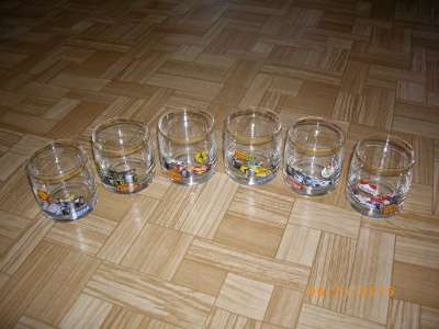 Оригинальные низкие стаканы (Чехия)
