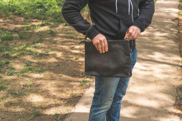 Мужская сумка из кожи питона в Москве фото 4