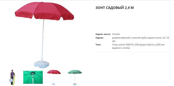 Зонты для отдыха дома и на природе