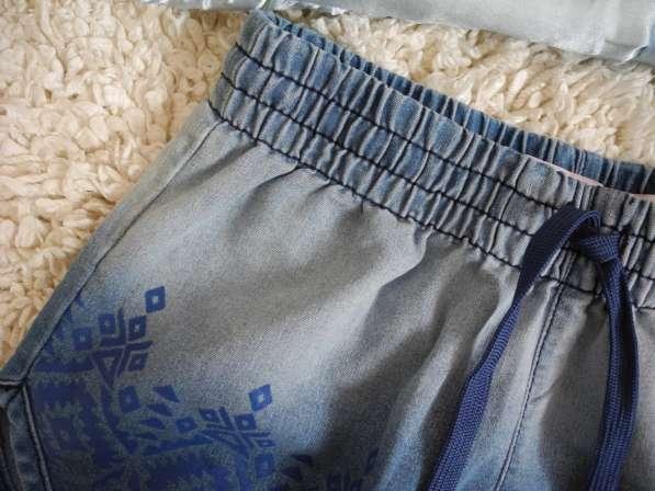 Джинсовые шорты с эффектом омбре и этно-принтом Gloria Jeans в
