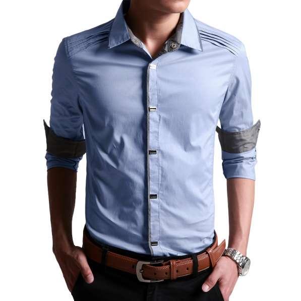 Мужская рубашка на кнопках