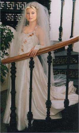 Итальянское платье из натур шелка для свадьбы или танцев