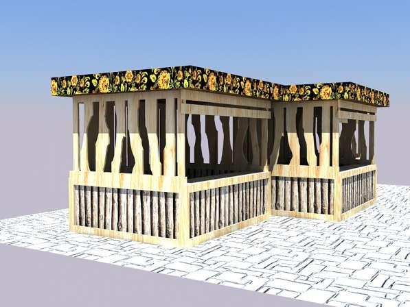 Изготавливаем деревянные ярмарочные домики в Ростове-на-Дону фото 10