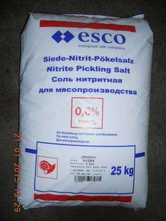 Соль нитритная для мясопереработки