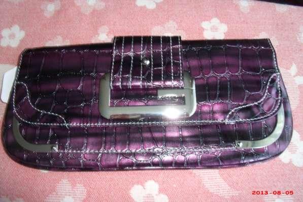 Новый фиолетовый клатч
