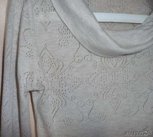 Пуловер, шерсть/хлопок, Promod, р-44
