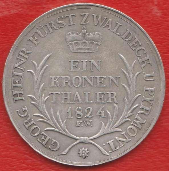 Германия Княжество Вальдек-Пирмонт талер 1824 г.