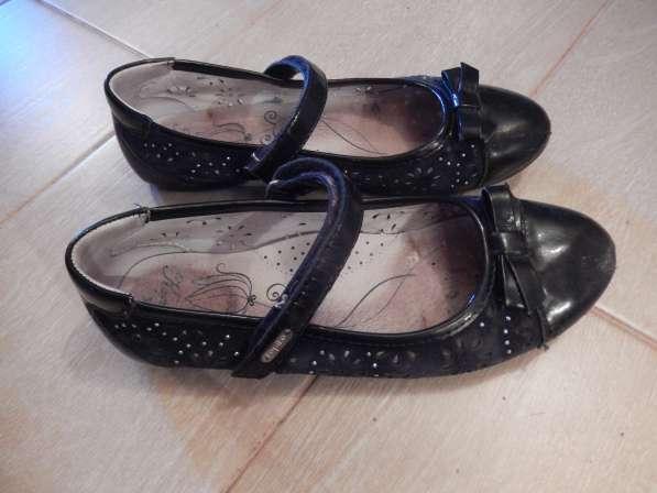 Туфельки детские летние, чёрного цвета, ремешок на липучке