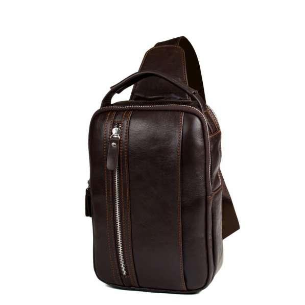 Кожаный рюкзак-сумка-борсетка на одной лямке