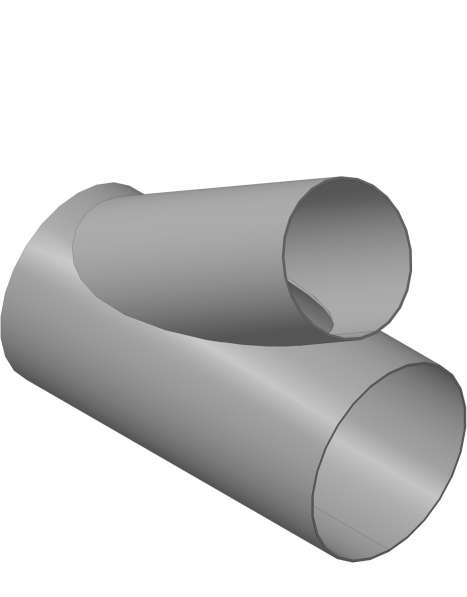 Развёртки врезки труб, большого диаметра